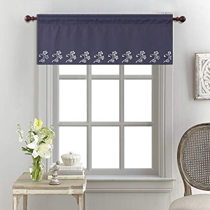 Amazon.com: KEQIAOSUOCAI Kitchen Valance for Window Rod Pocket