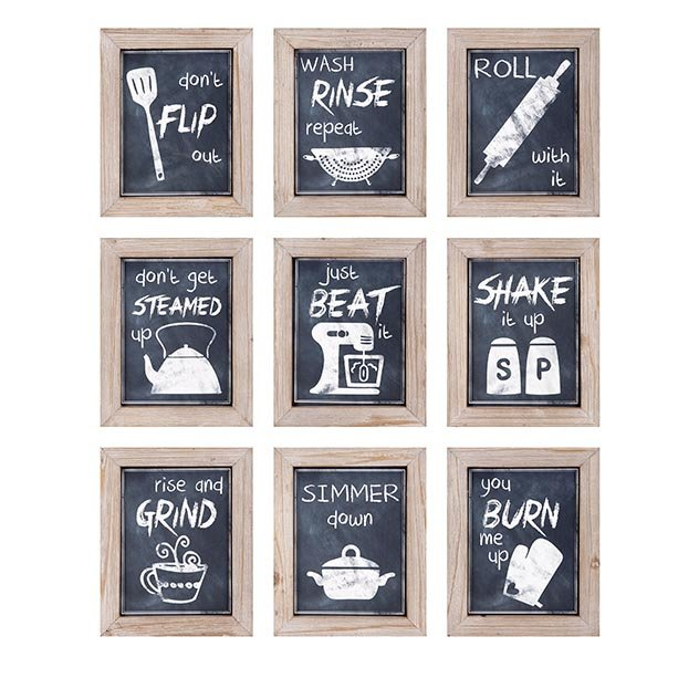 Woodland Imports 9 Piece Kitchen Inspirations Wall Decor & Reviews