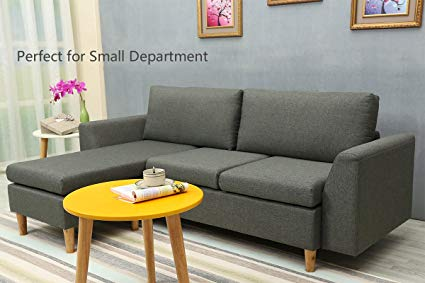 Amazon.com: Sectional Sofa, L-Shape Sectional Couch with Reversible