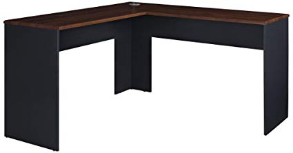 Amazon.com: Ameriwood Home The Works L-Shaped Desk, Cherry: Kitchen