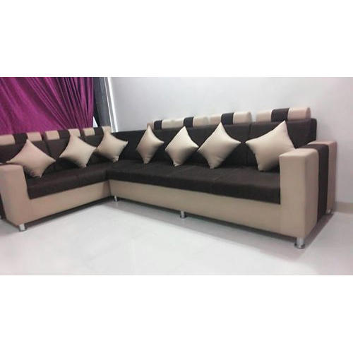 7 Seater L Shaped Sofa at Rs 37500 /set | L Shape Sofa Set | ID