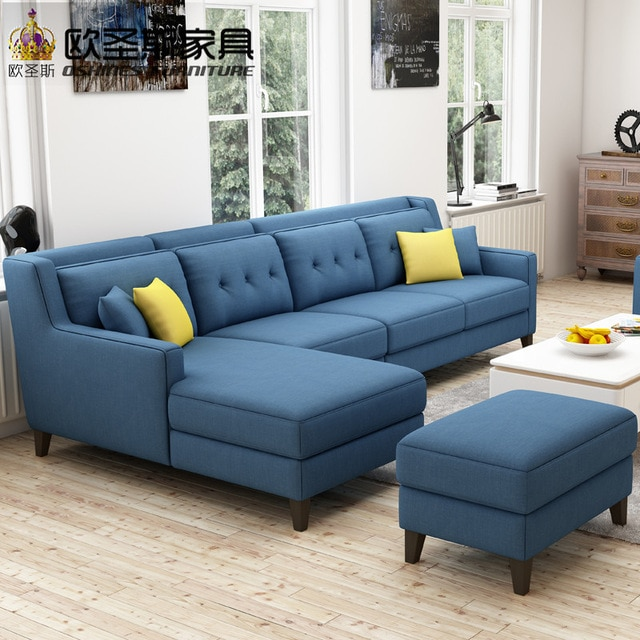 New arrival American style simple latest design sectional l shaped
