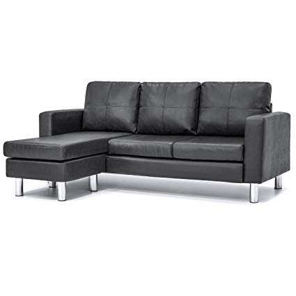 Amazon.com: Best Choice Products Faux Leather L-Shape Sectional Sofa