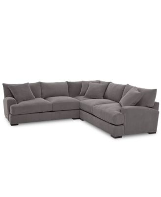 Furniture Rhyder 3-Pc. 'L' Shaped Fabric Sectional Sofa, Created for
