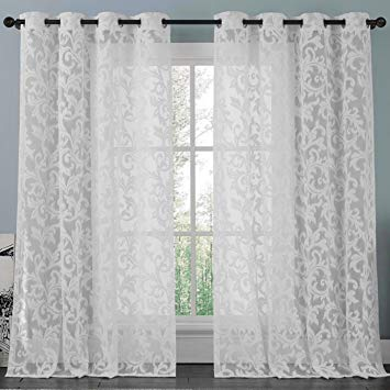 Amazon.com: brightmaison White Lace Curtain Panel 57 X 98 Inches