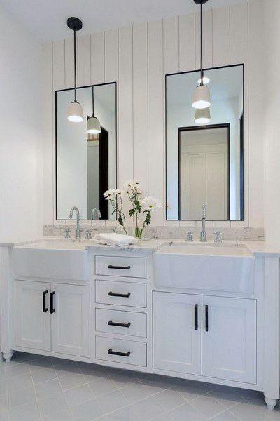 Top 50 Best Bathroom Mirror Ideas - Reflective Interior Designs