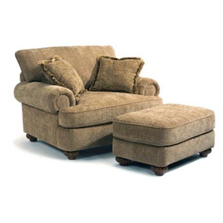 Patterson Fabric Chair & Ottoman - Eaton Hometowne Furniture