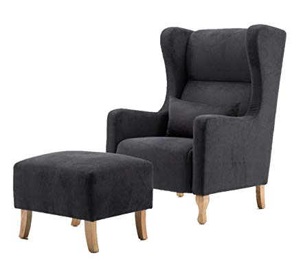 Amazon.com: MCombo Wingback Chair French Country Nail Head Armchair