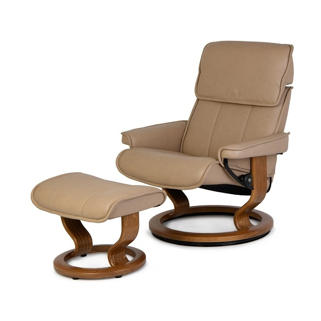 Admiral Large Chair and Ottoman