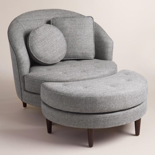 Extraordinary Gray Seren Round Seating Collection With Round Coffee