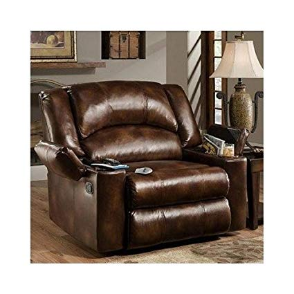 Amazon.com: Simmons Brown Leather Over Sized Massage Reclining Chair