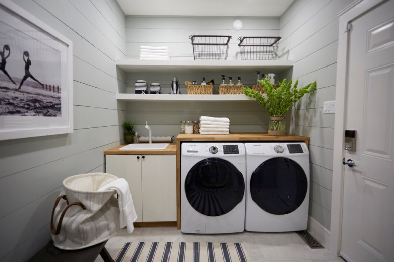Danielle Bryk Cleaned Up With This Laundry Room Redesign - Home to Win
