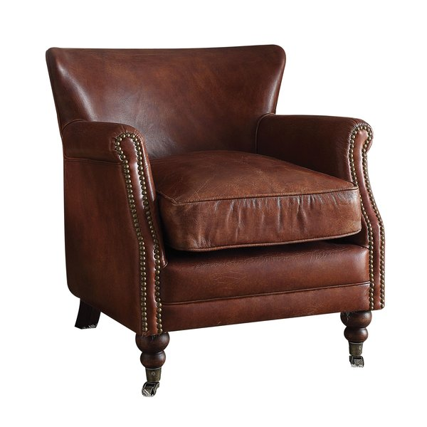 Comfortable living room seating – leather   club chair
