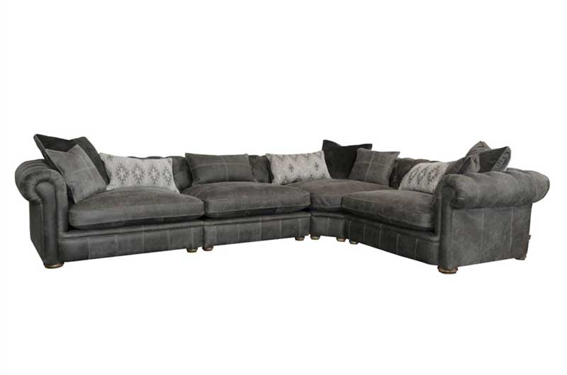 Retreat Leather Corner Sofa from A&J | Mia Stanza