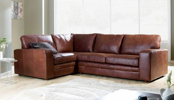 Modern & Contemporary Leather Corner Sofa | Darlings of Chelsea