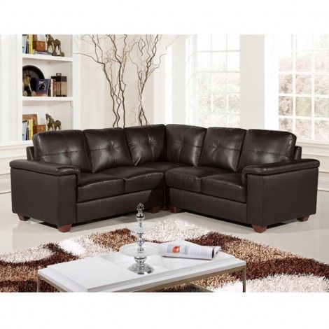 Windsor Dark Brown Leather Corner Sofa Collection | Home Decor and