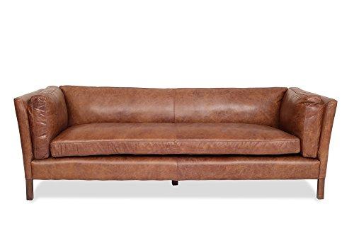 Amazon.com: Edloe Finch Modern Leather Sofa - Mid Century Modern