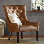 Leather furniture armchairs versus   material armchairs