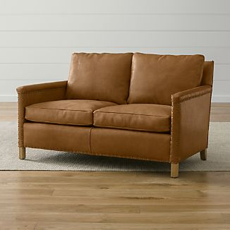 Leather Loveseats | Crate and Barrel