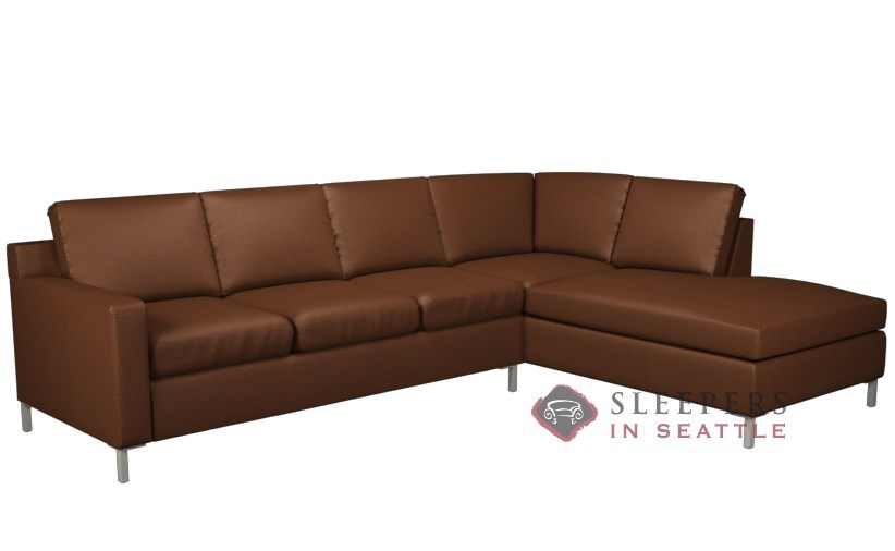 Customize and Personalize Soho Chaise Sectional Leather Sofa by