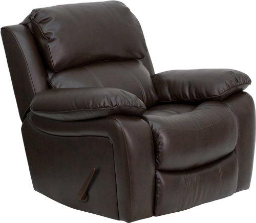 Amazon.com: Flash Furniture Brown Leather Rocker Recliner: Kitchen