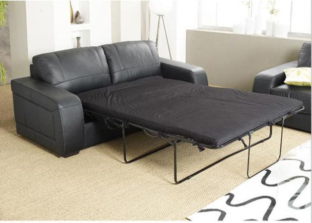 Living Room Sofa bed minimalist modern sofa / sofabed real genuine
