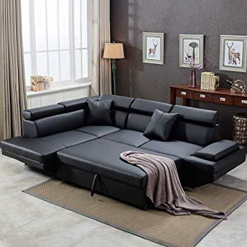 Amazon.com: Corner Sofa Set, 2 Piece Modern Contemporary Faux