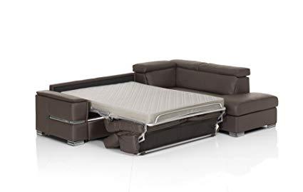 Amazon.com: Chiara Full Leather Italian Sectional Sofa Bed Sleeper