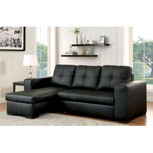 Stylish leather sectional sofa beds
