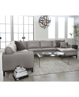 Trendy leather sectional sofas