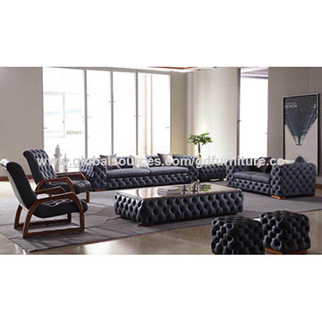China Italian design luxury leather sofa set 4 seat sofa on Global