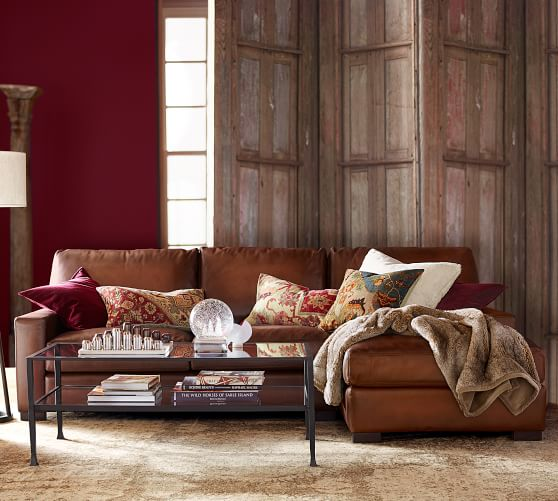 Trendy leather sofas sectional