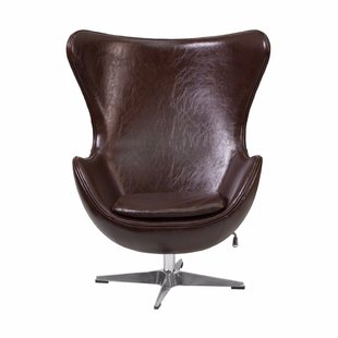 Leather Swivel Accent Chairs You'll Love   Wayfair