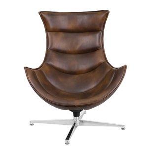 Swivel Leather Chairs You'll Love   Wayfair