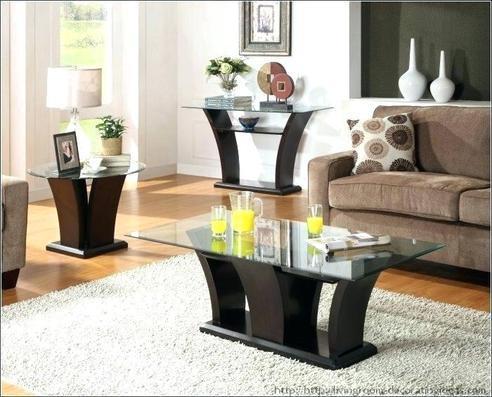 Living Room End Table Sets 3 Piece Living Room Table Sets Black