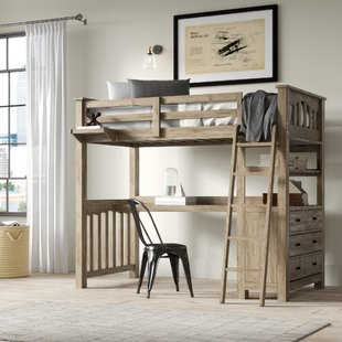 Loft Bed With Desk And Dresser | Wayfair