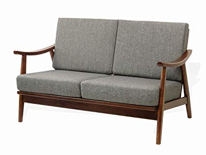 Amazon.com: Rattan Wicker Furniture Modern Lena Lounge Loveseat w