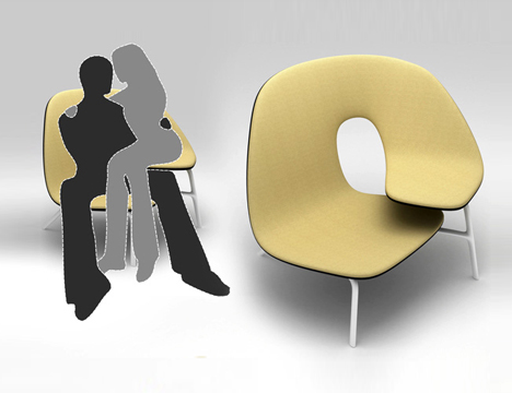 Loveseat Literalism: Two-Person Chair for Cuddling Couples | Designs