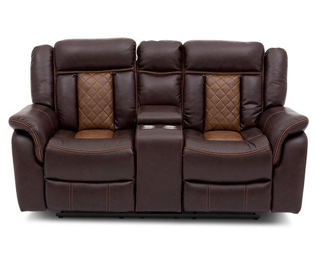 Martinsville Reclining Console Loveseat - Furniture Row