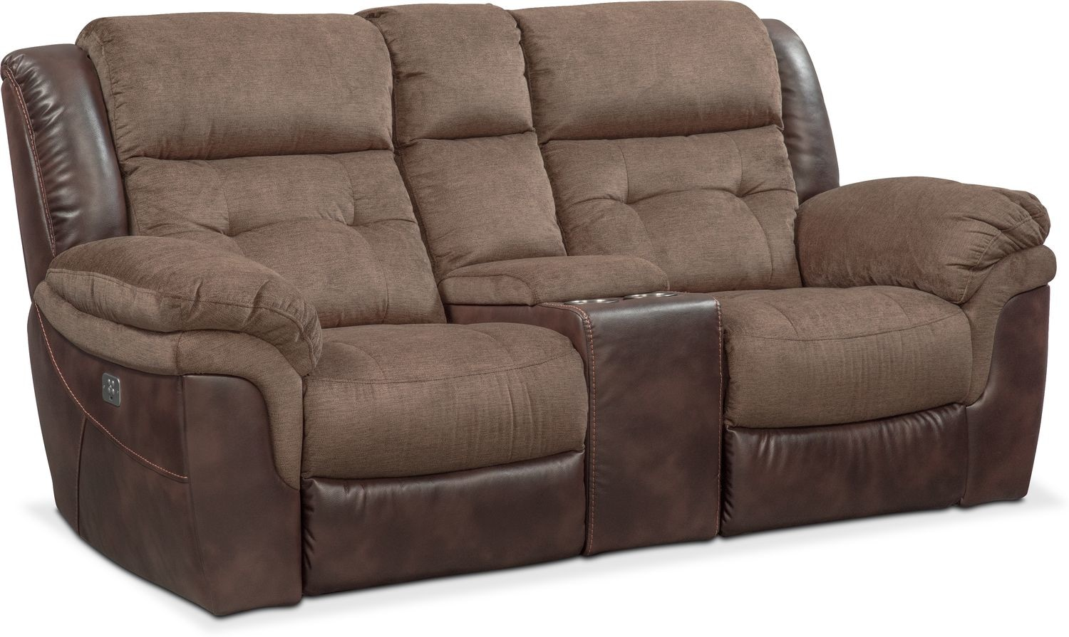 Tacoma Dual Power Reclining Loveseat with Console | Value City