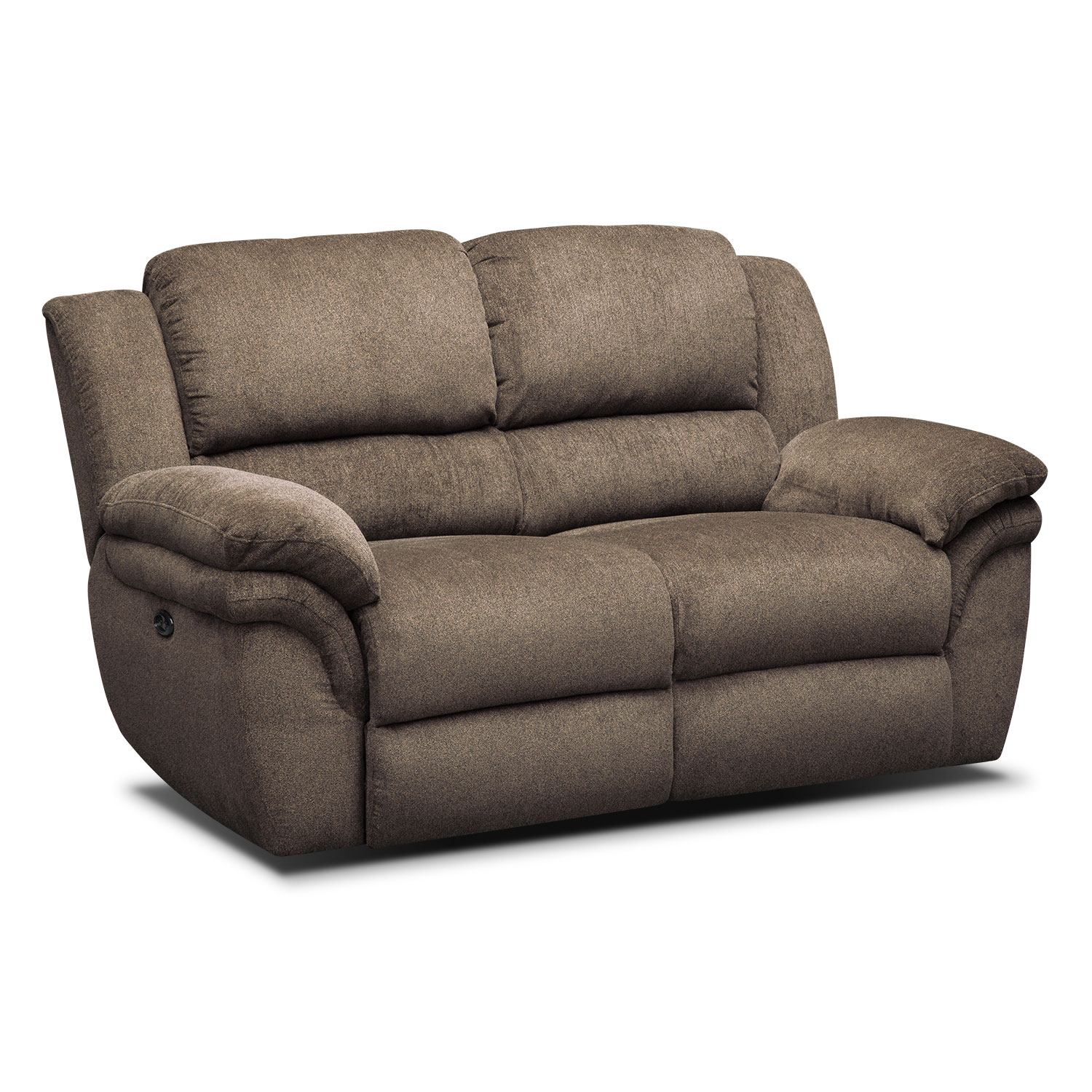 Aldo Power Reclining Loveseat | Value City Furniture and Mattresses