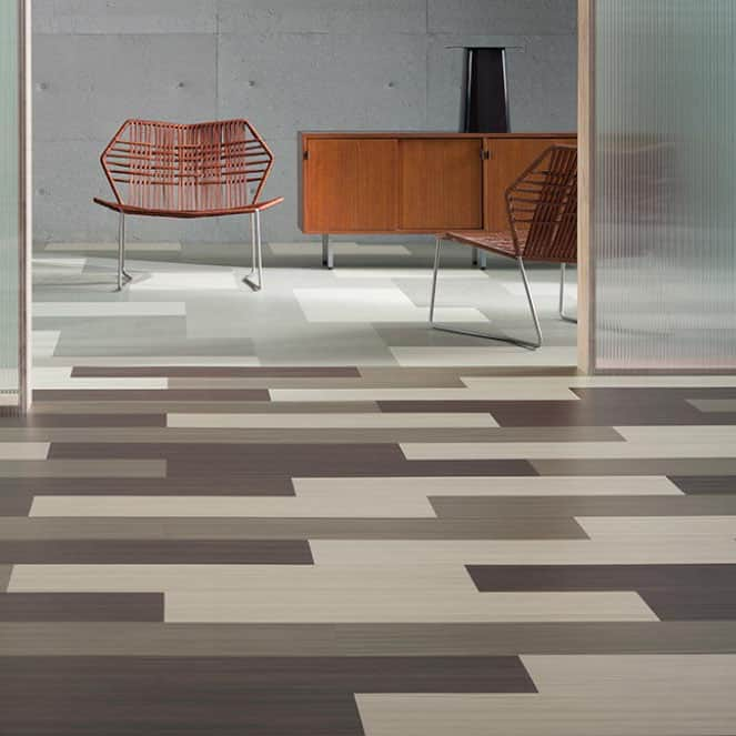 Marmoleum Modular Tile (2.5mm) - Glue Down Floor Square Tiles: Green
