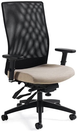 Global Weev High Back Mesh Chair with Multi Function Adjustment 2220-3