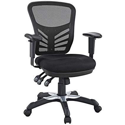 Amazon.com: Modway Articulate Ergonomic Mesh Office Chair in Black