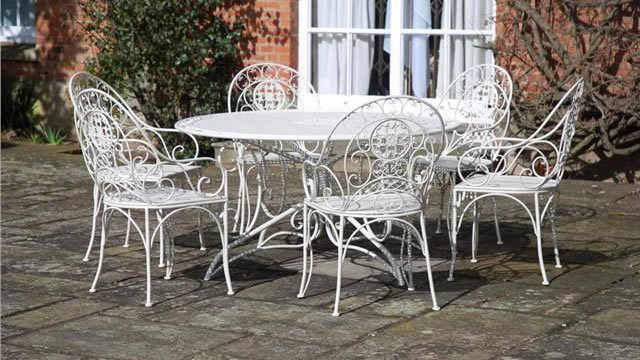 Wraught Iron Garden Furniture Vintage Cream Wrought Metal Patio