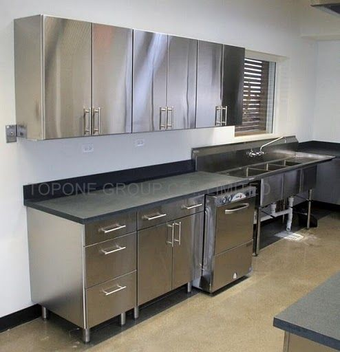 Stainless Steel Kitchen Cabinets | KoolKitch1 in 2019 | Pinterest