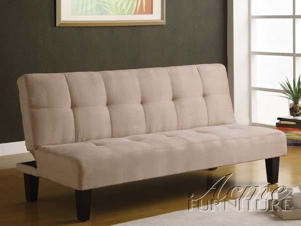 Emmet Beige Microfiber Adjustable Sofa Bed by Acme - 05673