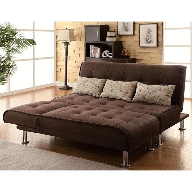 Brown Microfiber Sofa Bed Set by Coaster Furniture, 1 Reviews