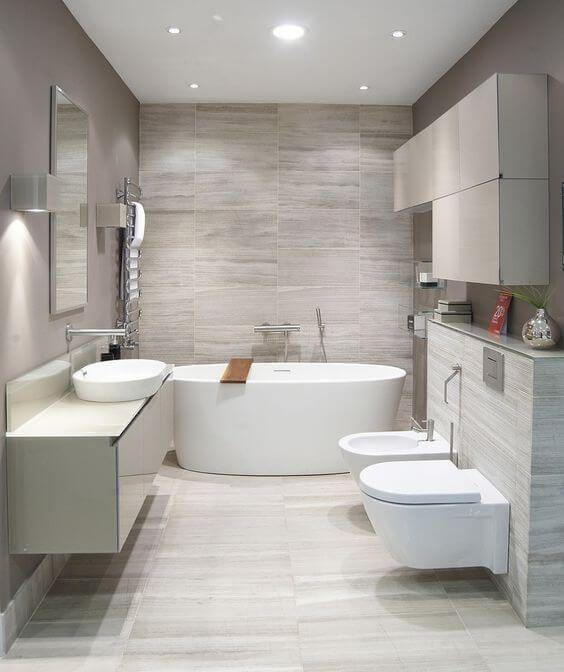 30 Elegant Examples of Modern Bathroom Design For 2018 | Modern
