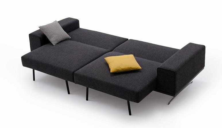 Chenille Fabric Modern Long Comfortable Sofa Bed K56